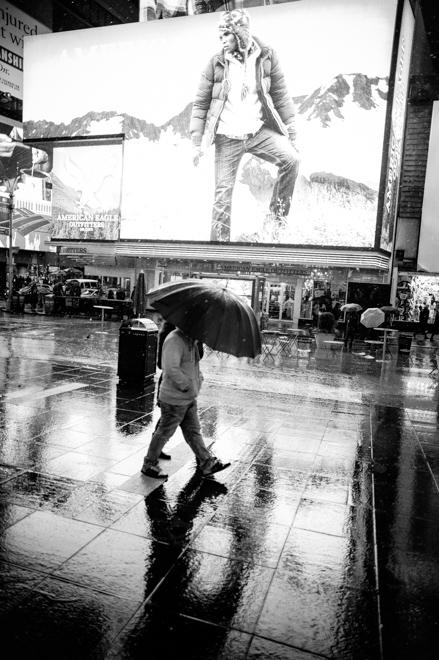 Times Square Rain
