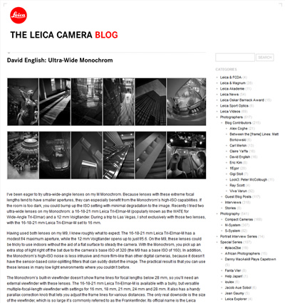 Leica Camera Blog Guest Post