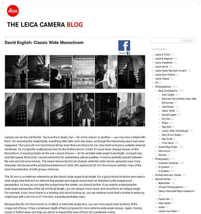 Leica Camera Blog Guest Post